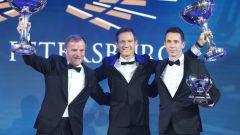 FIA Prize Giving 2018 - Il capo di M-Sport, Malcom Wilson, con Sebastien Ogier e il copilota Julien Ingrassia