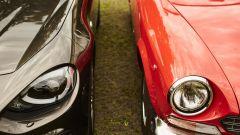 Fiat 124 Spider: i due fanali anteriori erano leggermente retratti