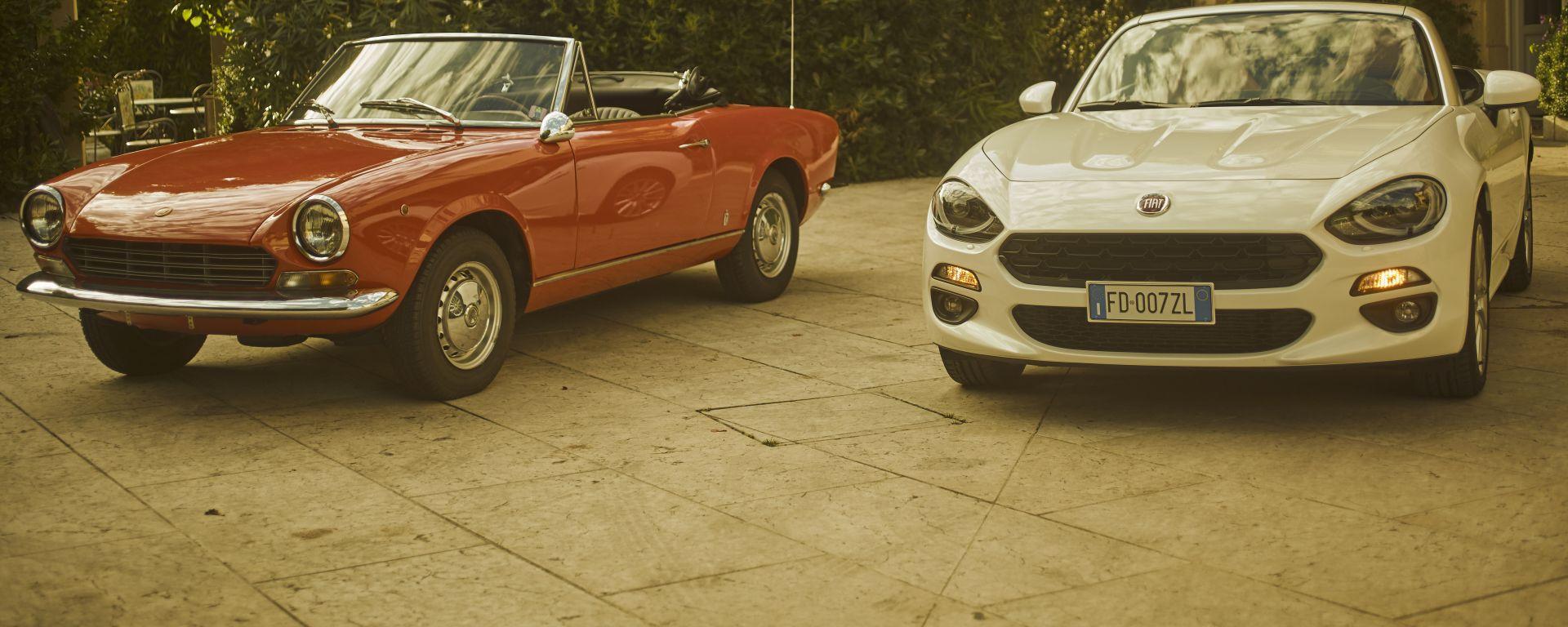 Fiat 124 Spider, passato e presente allo specchio