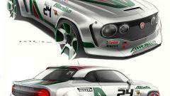 Fiat 131 Rally: i bozzetti prima del rendering