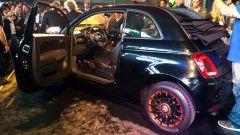 Fiat 500 cabrio: la 555 RR ha una speciale vernice glitterata nera