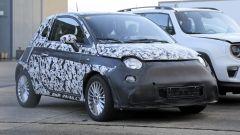 Fiat 500 elettrica 2020: dettaglio del frontale camuffato