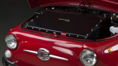 Fiat 500 elettrica by Officine Ruggenti: la batteria è nel muso