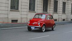 Fiat 500 elettrica by Officine Ruggenti: vista 3/4 anteriore