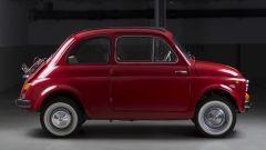 Fiat 500 elettrica by Officine Ruggenti: vista laterale