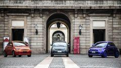 Fiat 500 elettrica, tre colorazioni disponibili