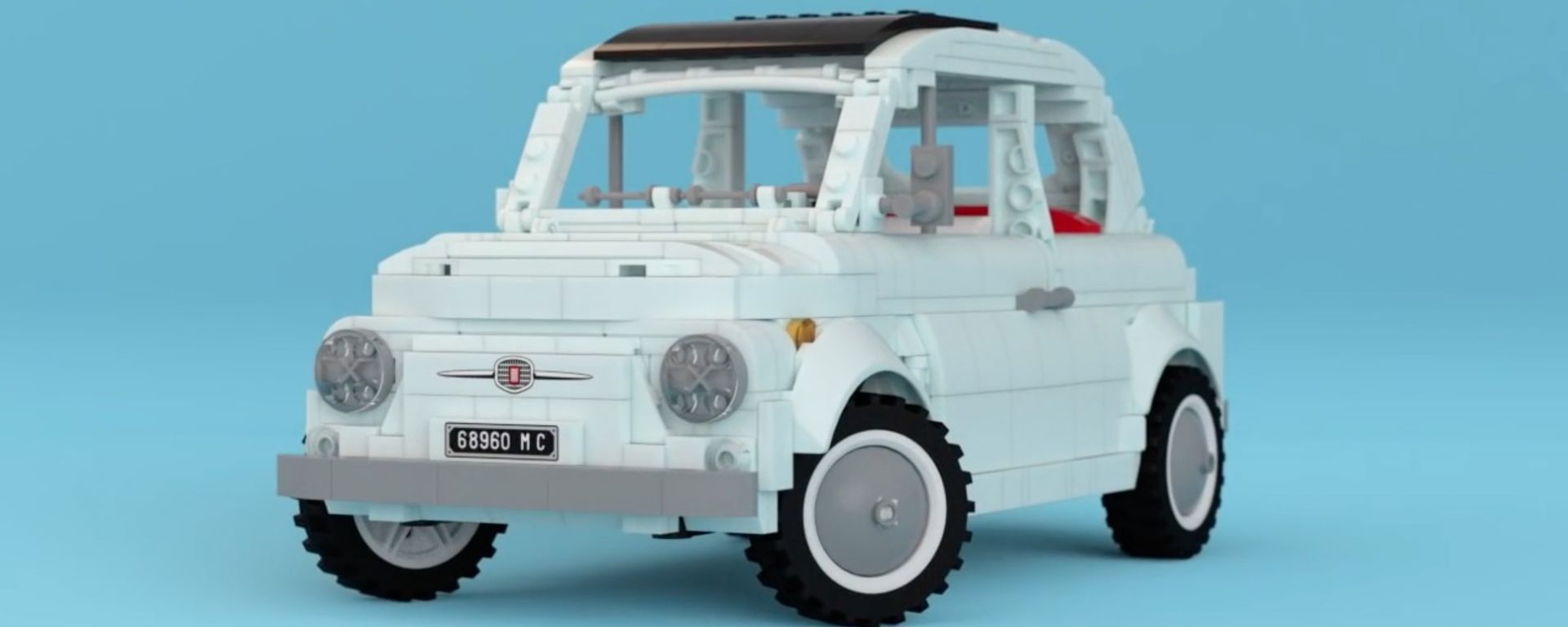 Fiat 500 in mattoncini di Lego