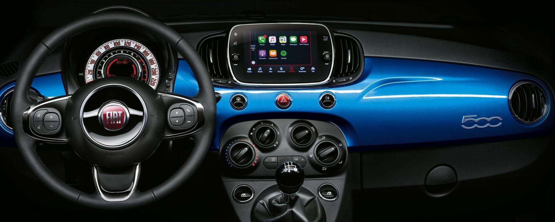 Fiat 500 Mirror, l'infotainment supporta Apple CarPlay e Android Auto