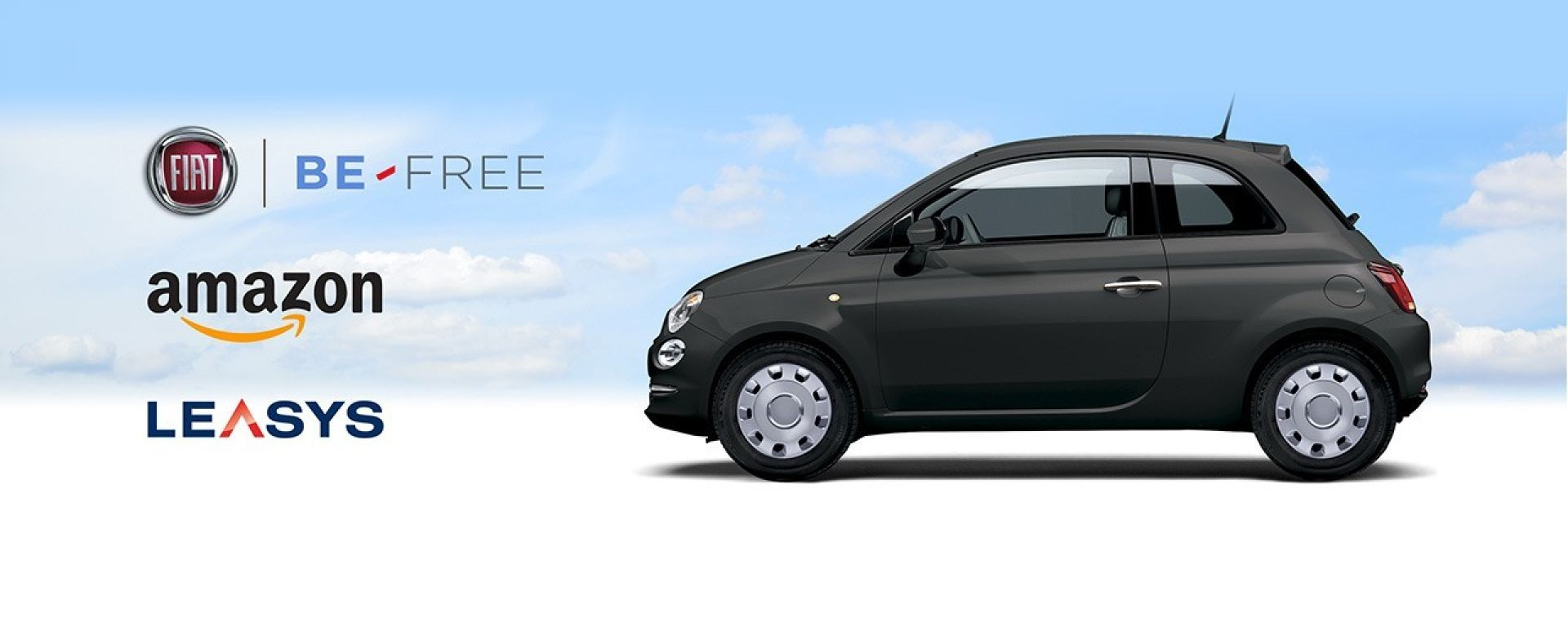 Fiat 500 noleggiabile su Amazon.it con la formula Be Free