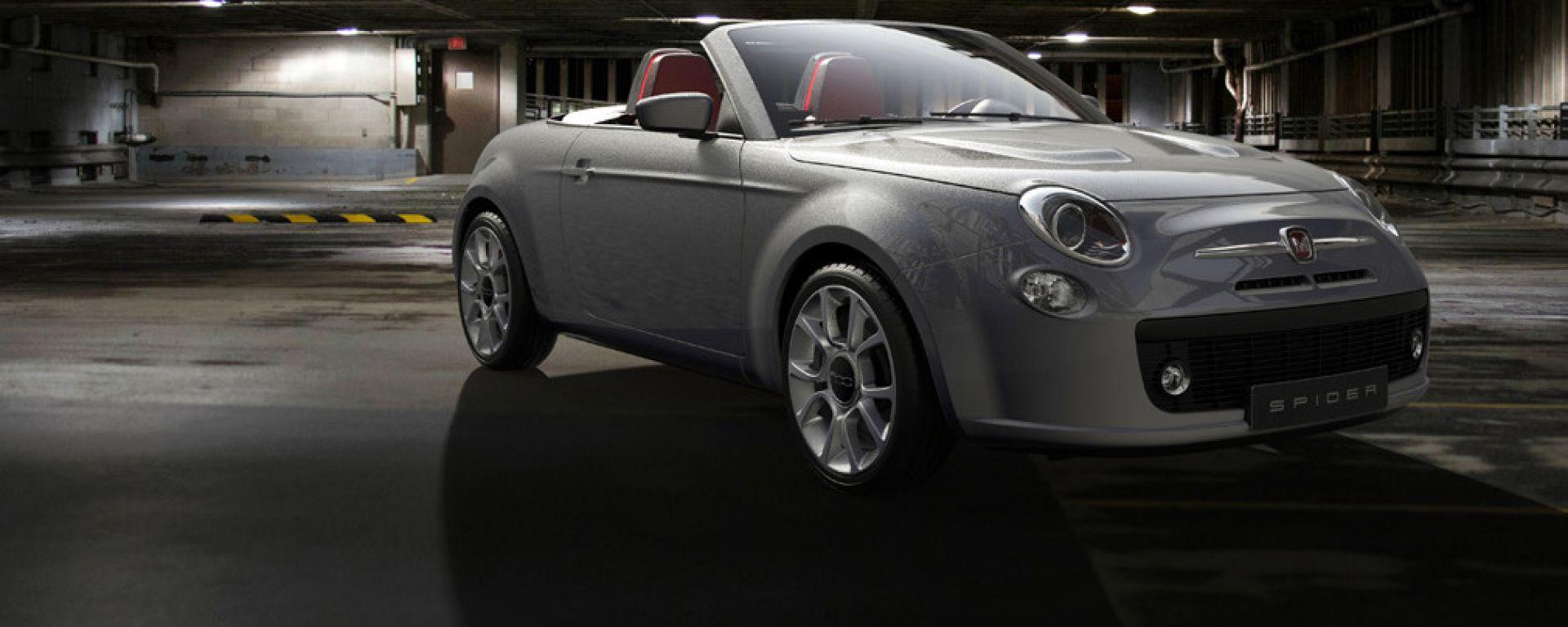 Fiat 500 Spider, il rendering di David Obendorfer