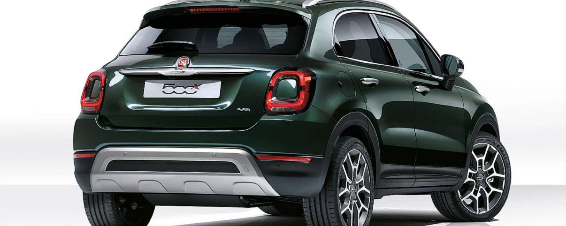 Fiat 500X 2019: vista 3/4 posteriore