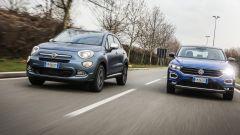 Fiat 500X Mirror vs Volkswagen T-Roc: crossover a confronto