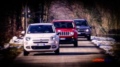 Fiat 500X vs Jeep Renegade vs Dacia Duster - Immagine: 1