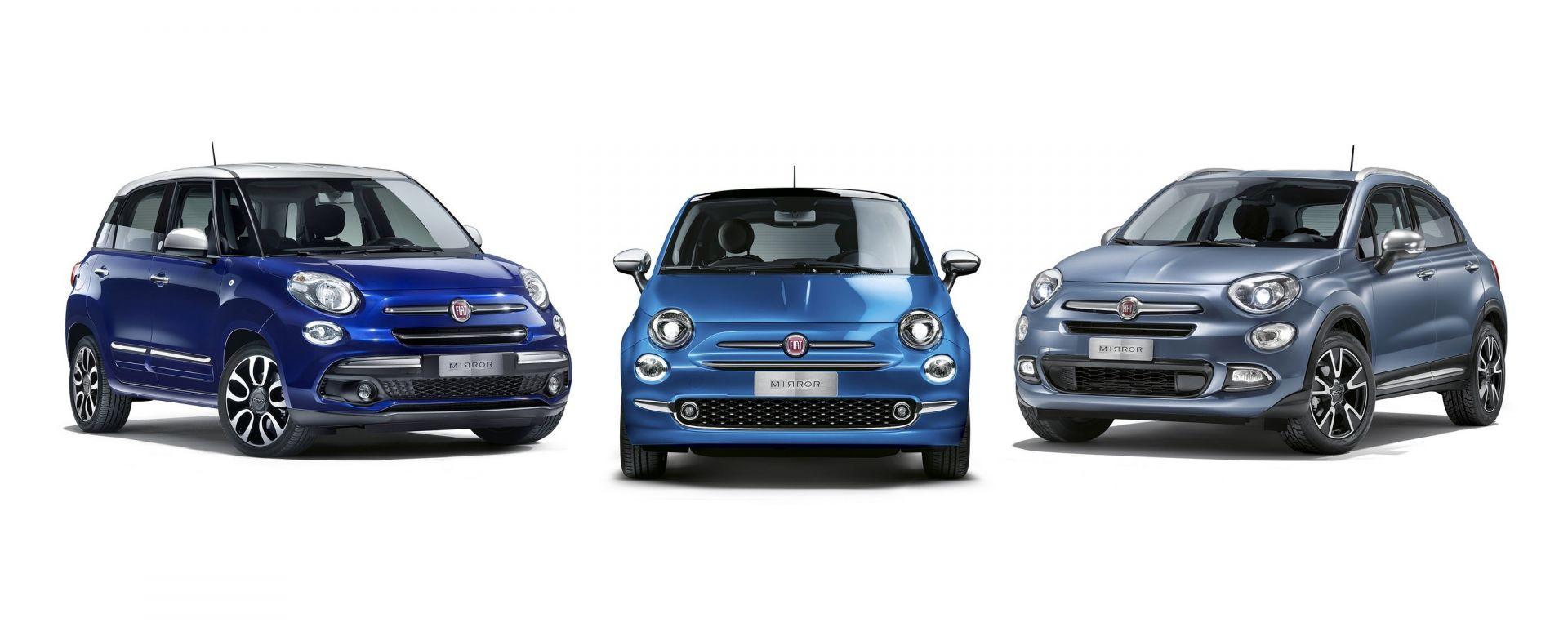 Fiat: al via gli ordini della famiglia ultraconnessa Fiat 500 Mirror