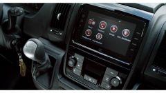 Fiat E-Ducato 2021, interni: connettività e display centrale