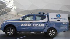 Fiat Fullback della Polizia Scientifica: una cellula posteriore al posto del cassone di carico