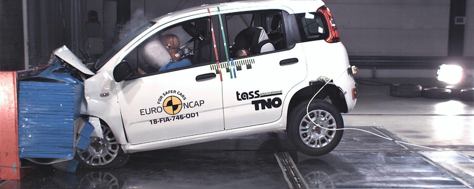 Fiat Panda 2018 ai crash test Euro NCAP
