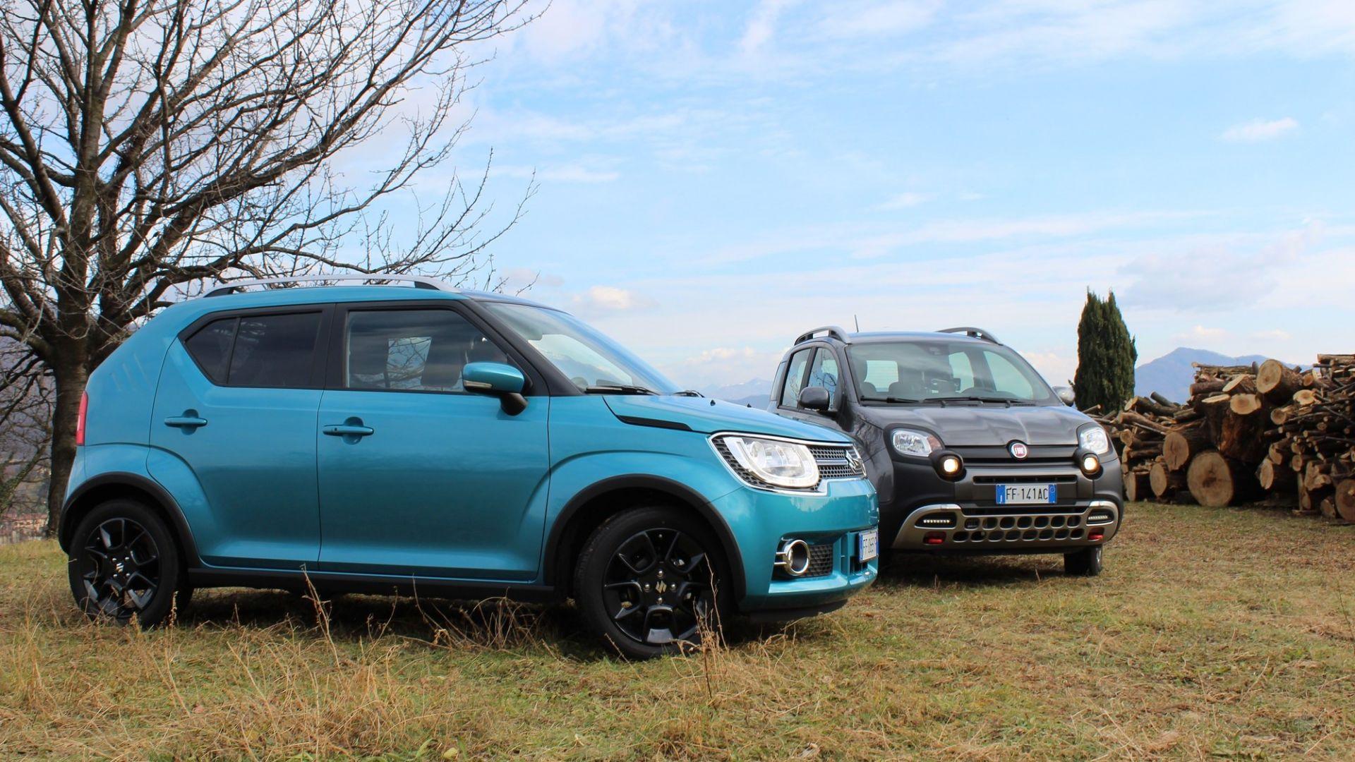 Fiat Panda 2017 >> Video prova: Fiat Panda 4x4 Cross vs Suzuki Ignis 4x4 ...