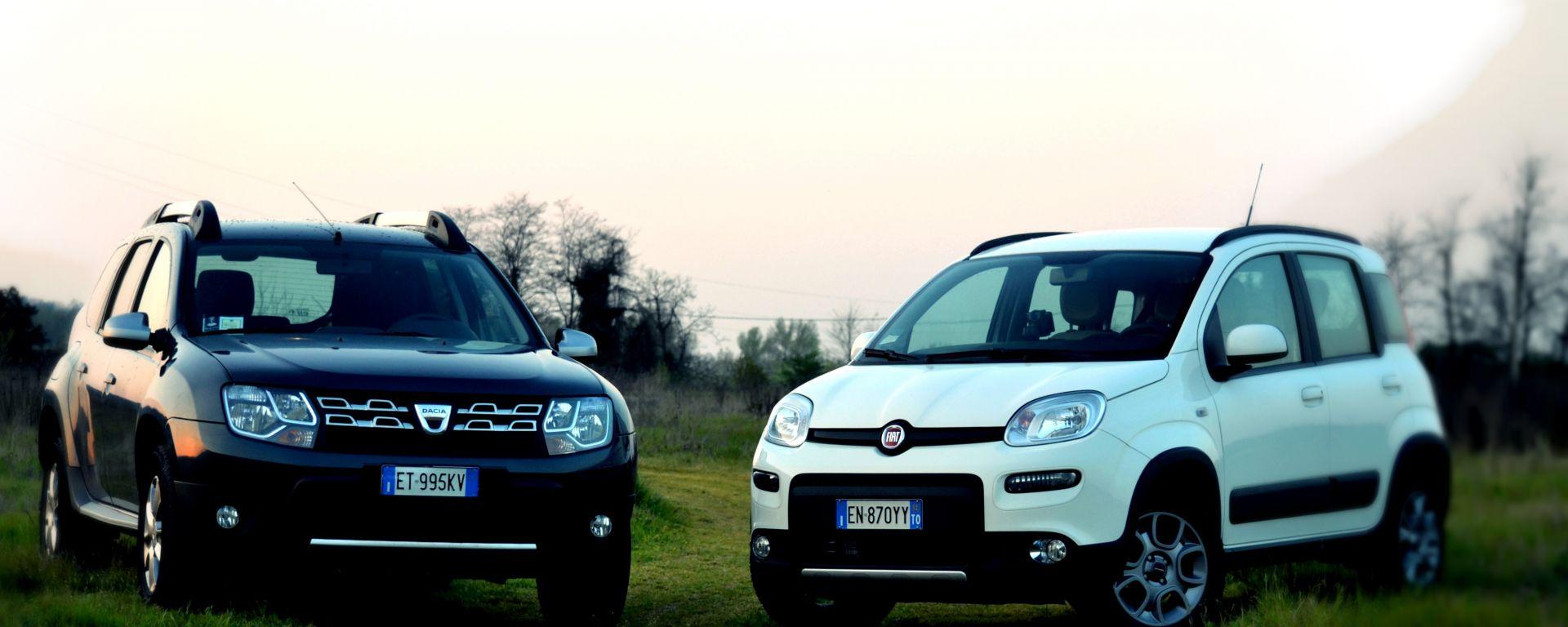 Fiat Panda 4x4 vs Dacia Duster 4WD