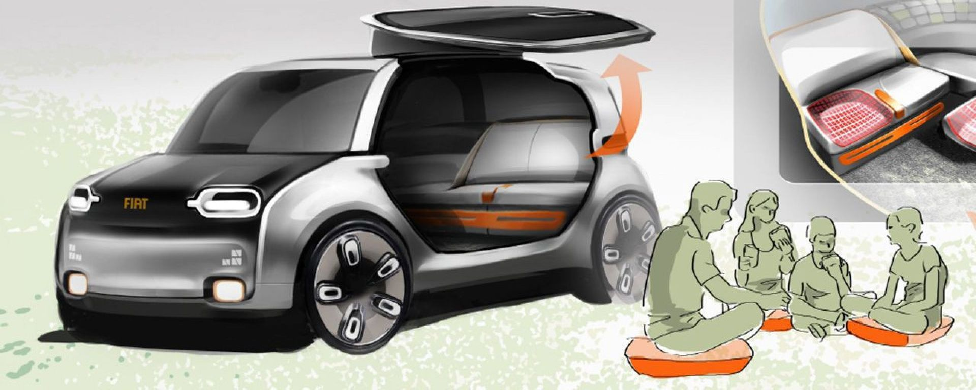 Yamaha Fiat 500 >> Design: Fiat Panda e 500: uno sguardo sul futuro - MotorBox