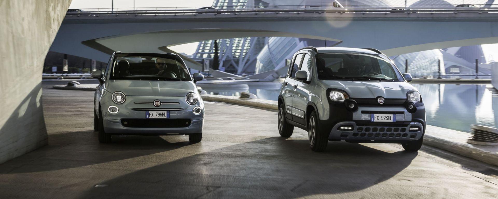 Fiat Panda e Fiat 500 ibride