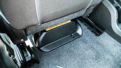 Fiat Panda Hybrid City Cross: la batteria è collocata sotto il sedile lato guida