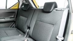 Fiat Panda Hybrid vs Suzuki Ignis Hybrid: il divanetto posteriore può scorrere per aumentare il volume del baule