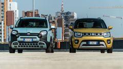 Fiat Panda Hybrid vs Suzuki Ignis Hybrid: il frontale in stile SUV
