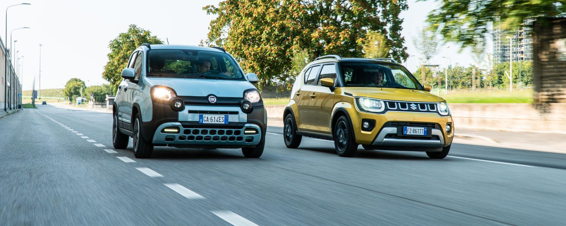 Fiat Panda Hybrid vs Suzuki Ignis Hybrid: la comparativa delle citycar elettrificate