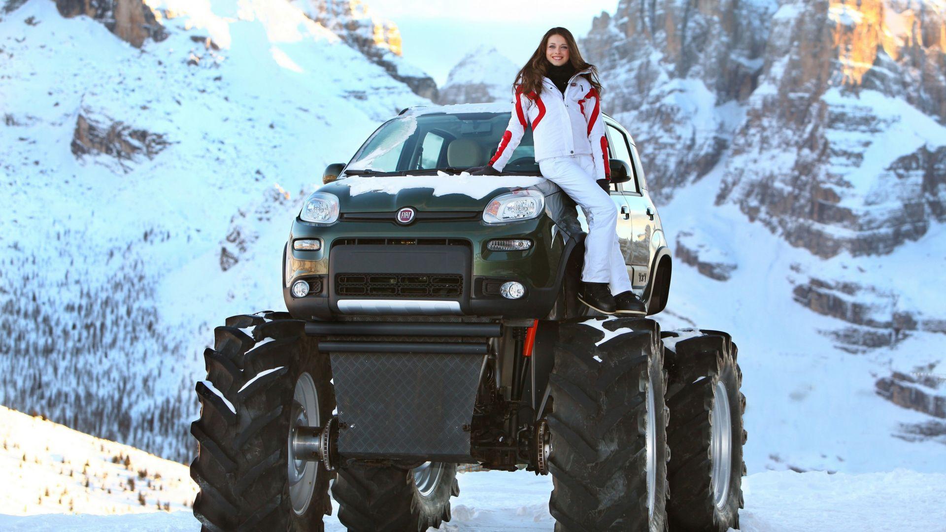big foot  fiat panda monster truck  nuove immagini