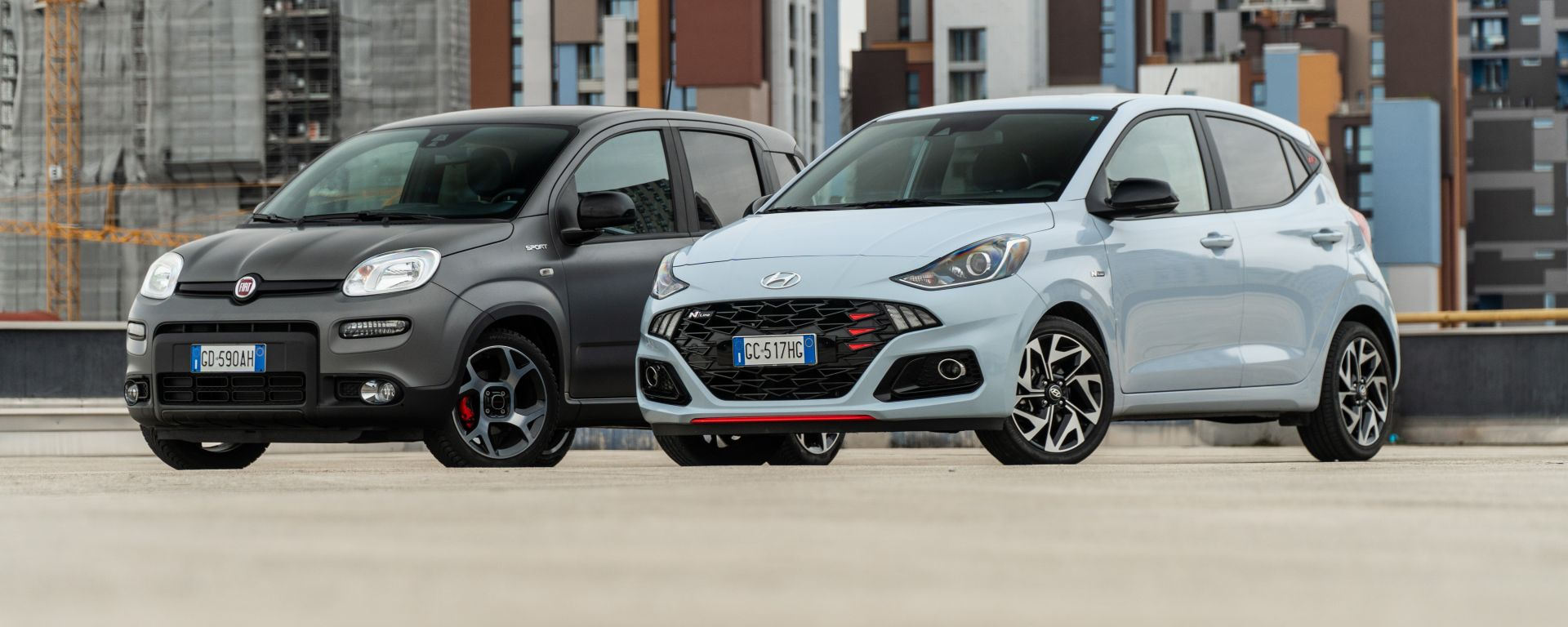 Fiat Panda Sport vs Hyundai i10 N Line: la prova sfida