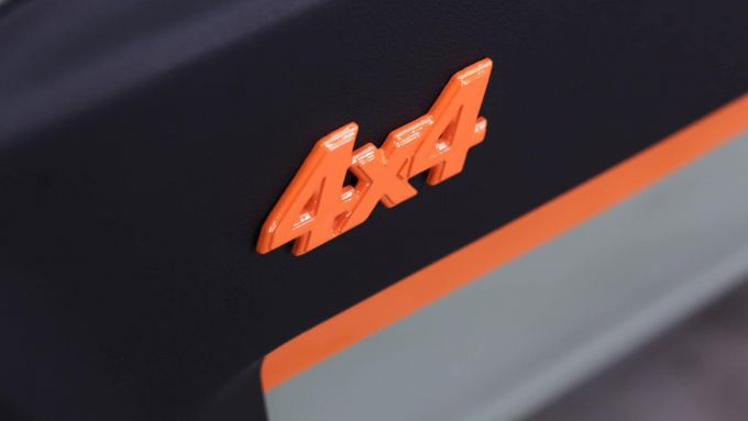 Fiat Pandino Jones: il logo 4x4