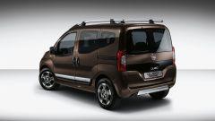 Fiat Qubo restyling: la Trekking si distingue per elementi estetici dedicati come paracolpi e cerchi in lega specifici