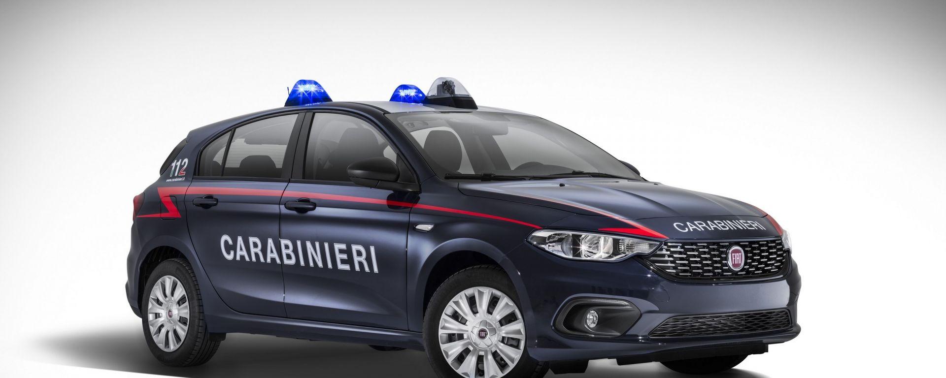 Fiat Tipo:  500 unità in dotazione all'Arma dei Carabinieri