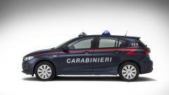 Fiat Tipo in dotazione all'Arma dei Carabinieri: vista laterale