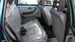 Fiat Uno Fire: sui sedili posteriori ancora la pellicola