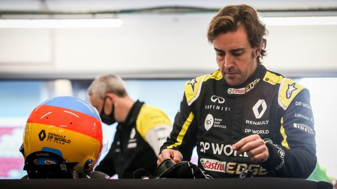 Filming Day Renault a Barcellona, 13 ottobre 2020, Fernando Alonso