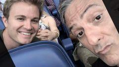 Fiorello e Rosberg, suggestione Ferrari al concerto di Ed Sheeran