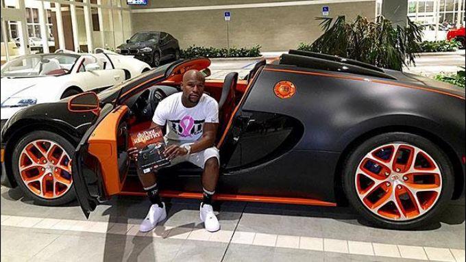 Floyd Mayweather e la sua quarta Bugatti