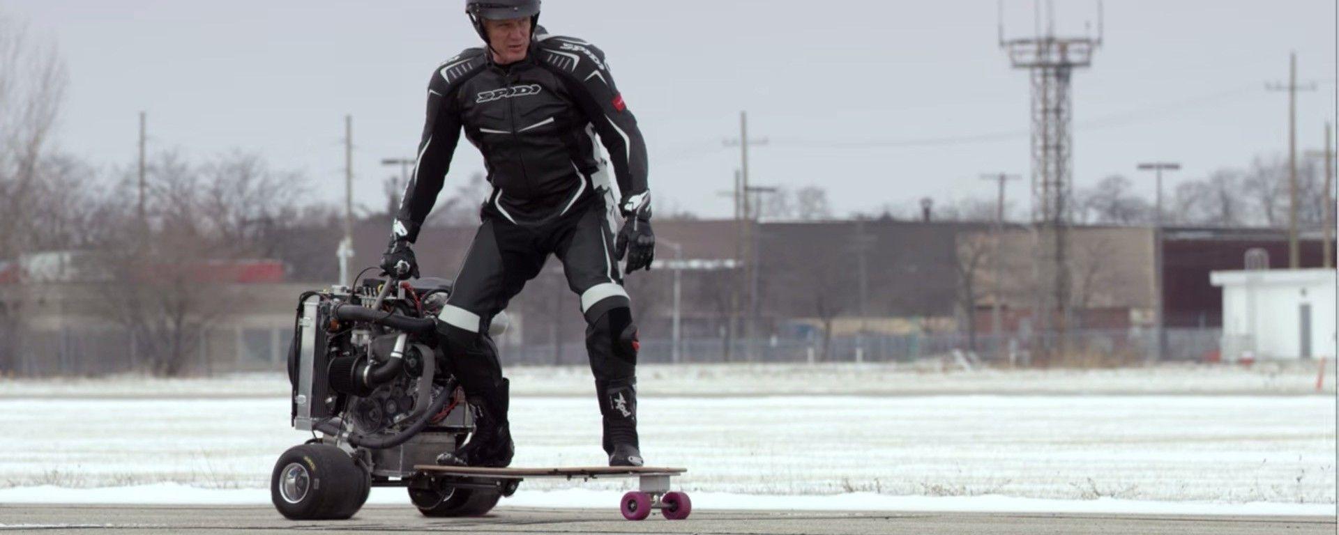 Ford 1.0 EcoBoost: c'è Ivan Drago sullo skateboard a motore (video)