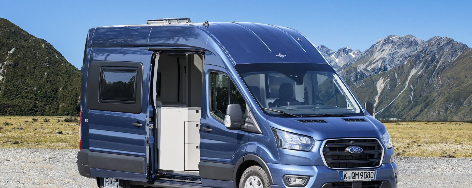 Ford Big Nugget 2020: concept di camper dell'ovale blu