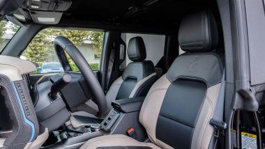 Ford Bronco anche in Italia: i sedili