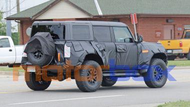 Ford Bronco Raptor 2022: visuale di 3/4 posteriore