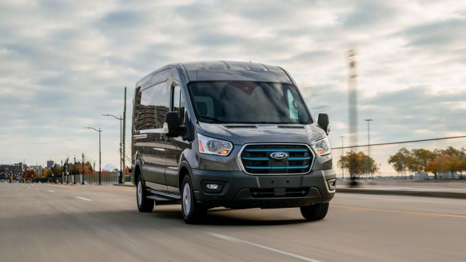 Ford E-Transit: frontale