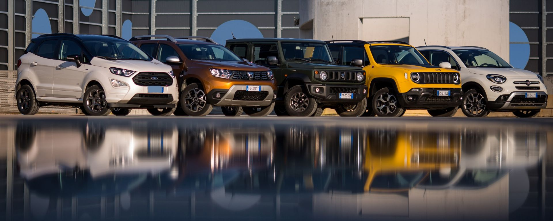 Ford Ecosport, Dacia Duster, Suzuki Jimny, Jeep Renegade, Fiat 500X: guida all'acquisto dei SUV compatti