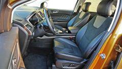 Ford Edge: sedili comodi per i lunghi viaggi e con regolazione elettrica