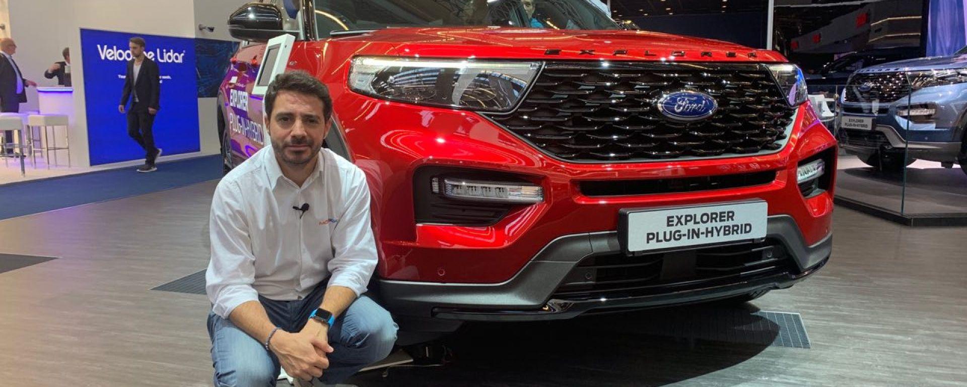 Ford Explorer plug-in hybrid in video da Francoforte 2019