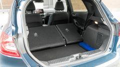 Ford Fiesta 1.0 Ecoboost Hybrid 125 CV ST-Line, il bagagliaio con i sedili posteriori abbattuti