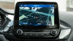 Ford Fiesta 1.0 Ecoboost Hybrid 125 CV ST-Line, lo schermo dell'infotainment