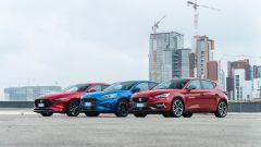 Ford Focus, Seat Leon, Mazda3: mild hybrid a confronto